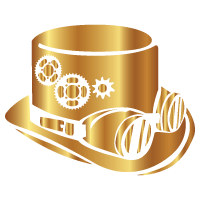 steampunk style gold icon